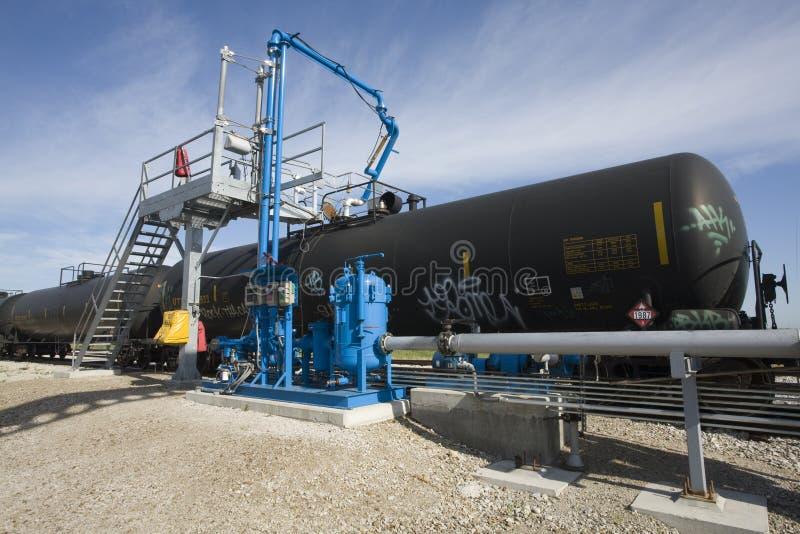 Los tanques del etanol del ferrocarril imagen de archivo