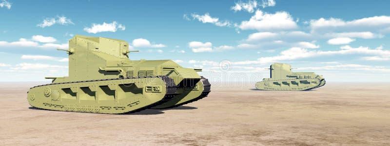 Los tanques medios británicos de Primera Guerra Mundial libre illustration