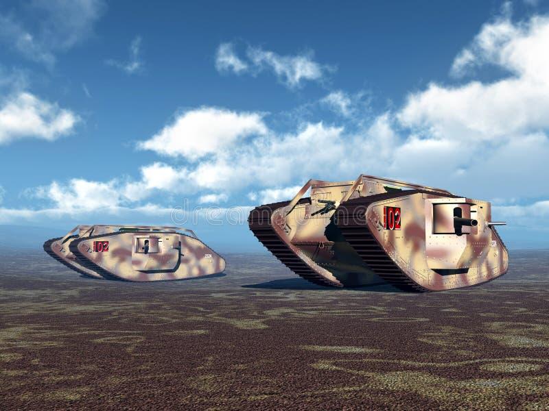 Los tanques pesados británicos de Primera Guerra Mundial libre illustration