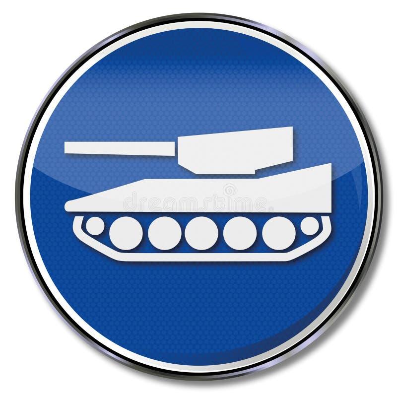 Los tanques pesados de la precaución stock de ilustración