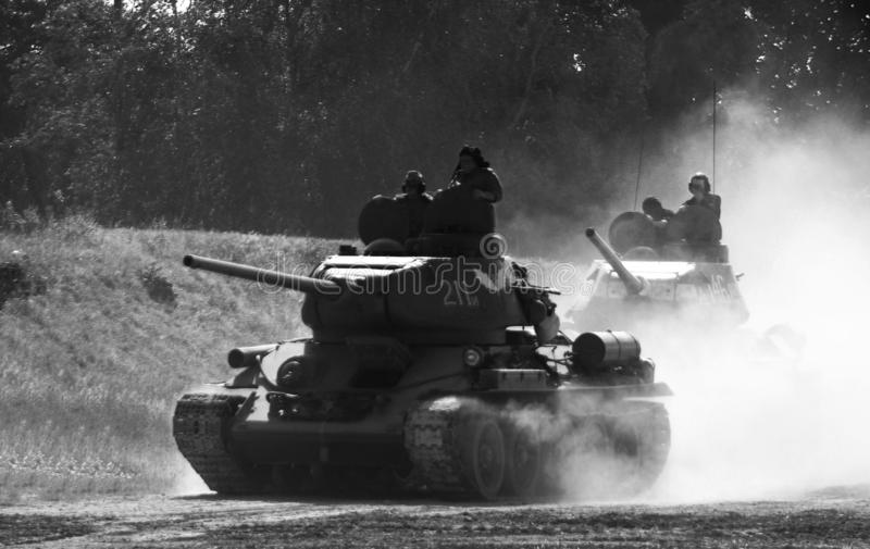 Los tanques T34/85 fotos de archivo libres de regalías