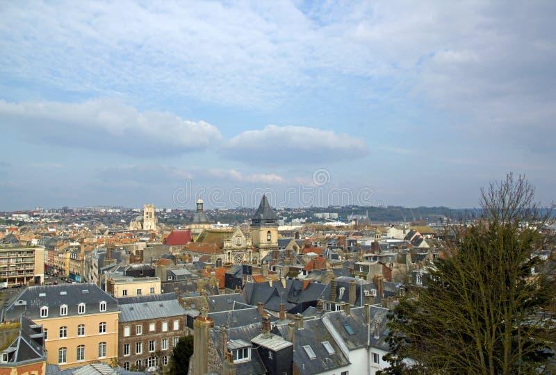 Los techos de Deauville vistos desde arriba Marítimo Normandía Francia imágenes de archivo libres de regalías