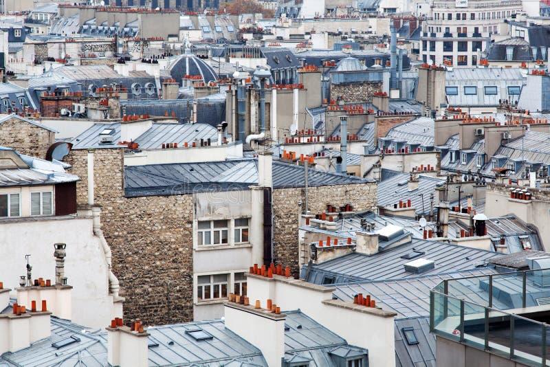 Los tejados de París imagenes de archivo