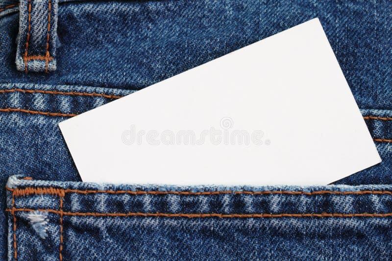 Los tejanos detallan con la divisa en blanco foto de archivo libre de regalías