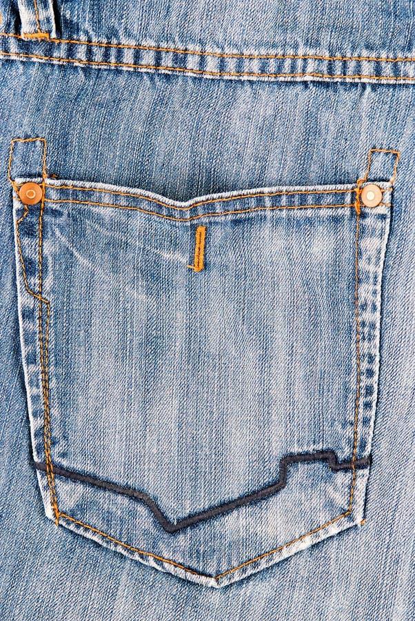 Los tejanos mueven hacia atrás textura del fondo del bolsillo imágenes de archivo libres de regalías