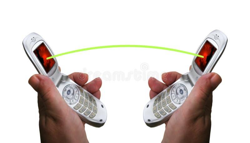 Los teléfonos móviles conectan. fotografía de archivo libre de regalías