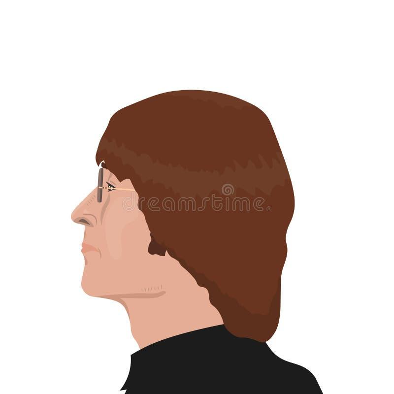 Los temas de la banda de Beatles ilustración del vector
