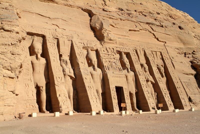 Los templos de Abu Simbel en Egipto fotos de archivo