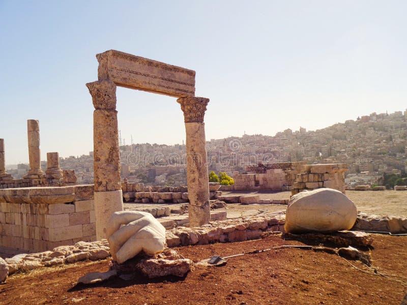 los templos viejos arruinan en Jordania foto de archivo libre de regalías