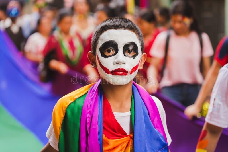 Los terceros géneros celebran el festival de Gaijatra en Katmandu Nepal fotografía de archivo libre de regalías