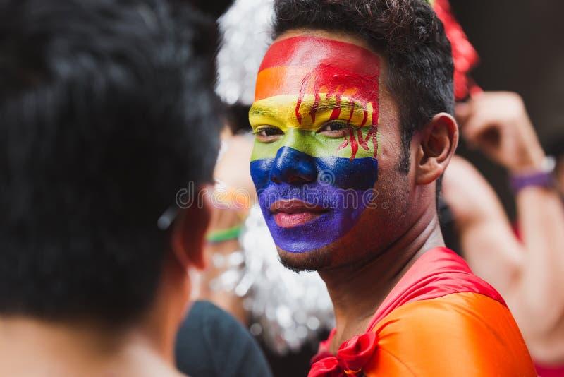 Los terceros géneros celebran el festival de Gaijatra en Katmandu Nepal imagen de archivo libre de regalías