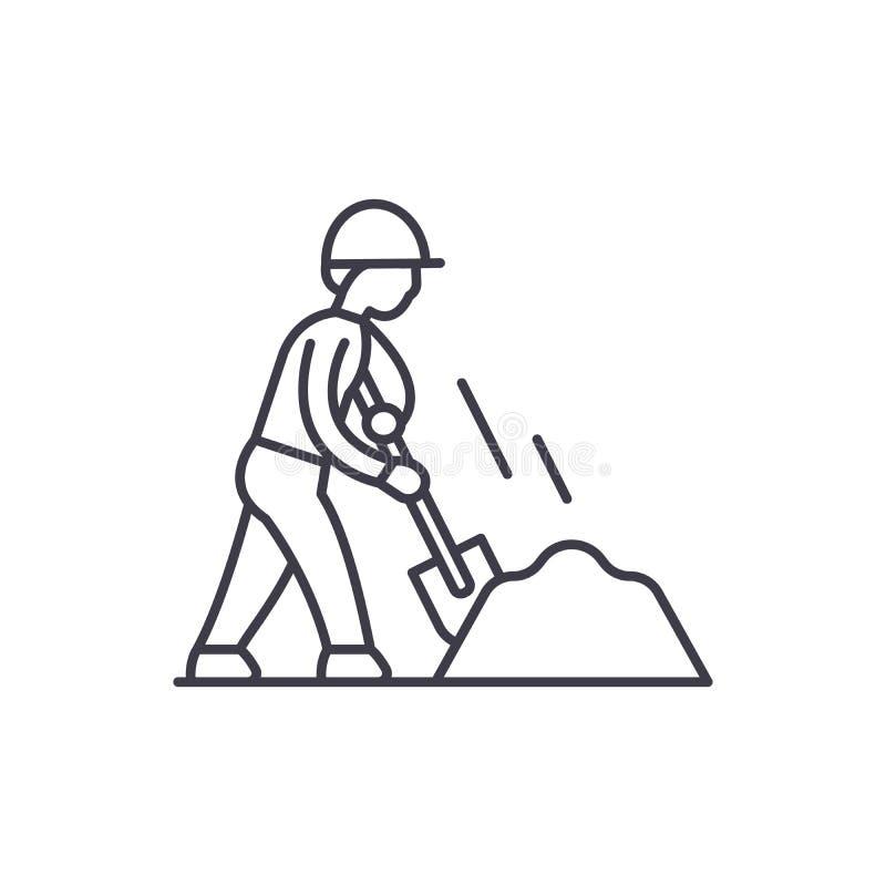 Los terraplénes alinean concepto del icono Ejemplo linear del vector de los terraplénes, símbolo, muestra libre illustration
