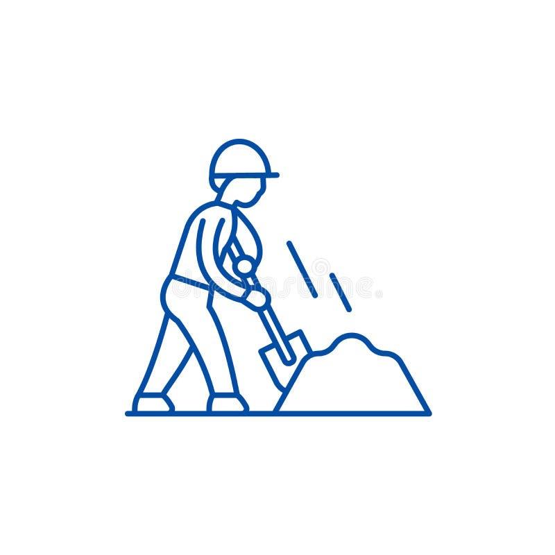 Los terraplénes alinean concepto del icono Símbolo plano del vector de los terraplénes, muestra, ejemplo del esquema ilustración del vector