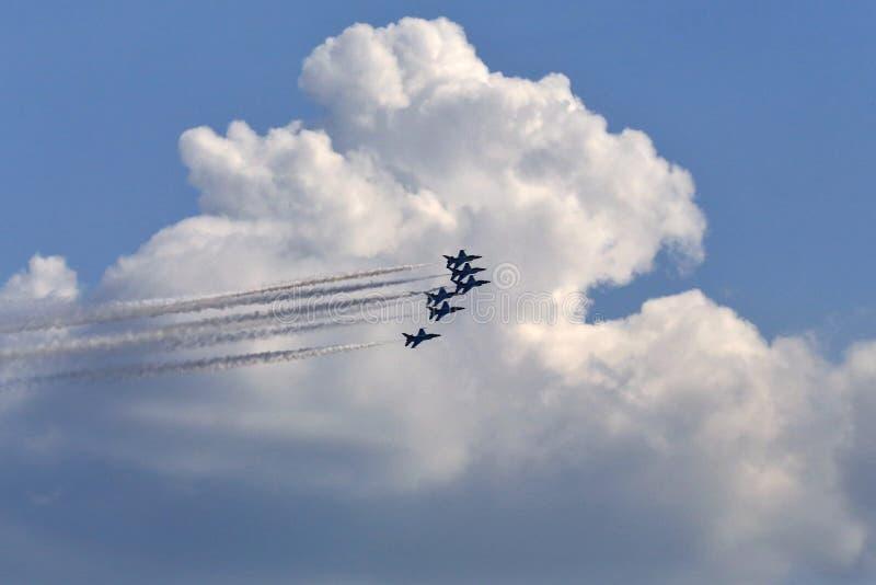 Los Thunderbirds de la fuerza aérea imagen de archivo