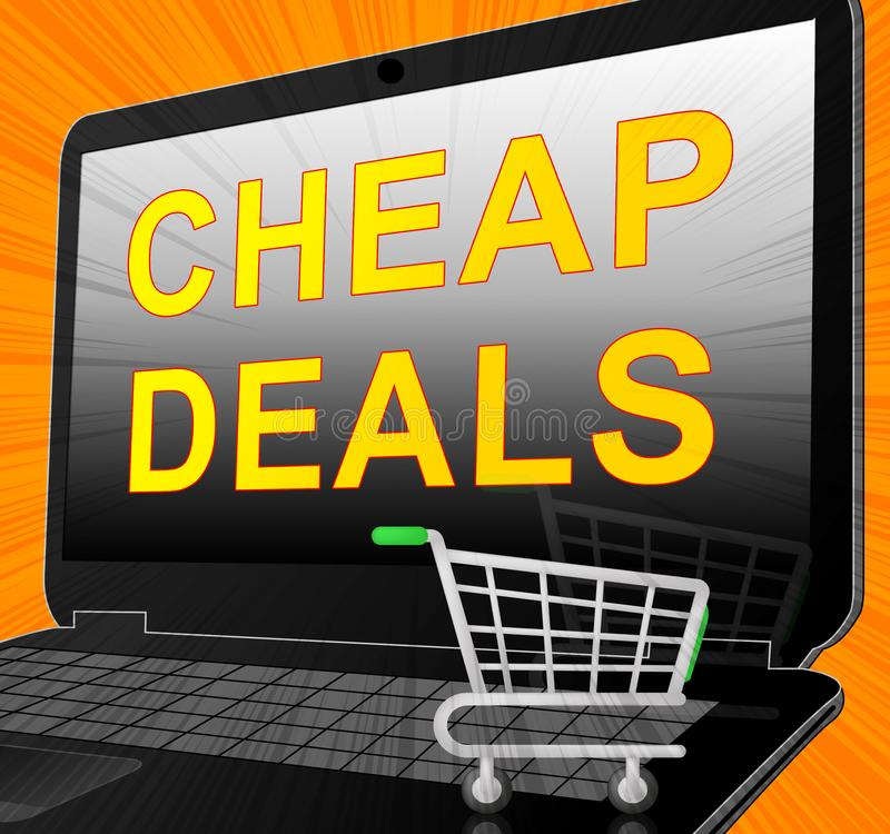 Los tratos baratos representan el ejemplo promocional de la liquidación 3d libre illustration