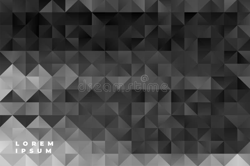Los triángulos abstractos modelan el fondo negro ilustración del vector
