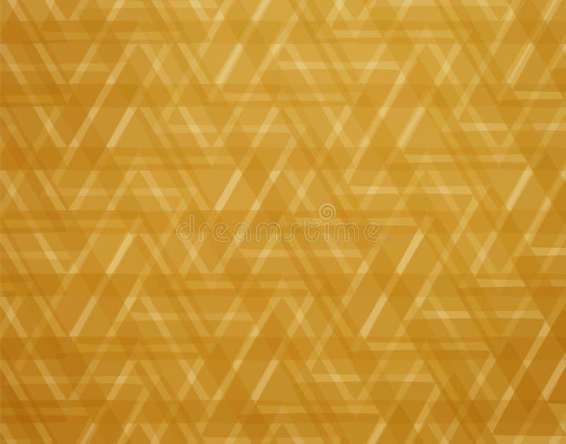 Los triángulos de oro Antecedentes elegantes abstractos del oro libre illustration