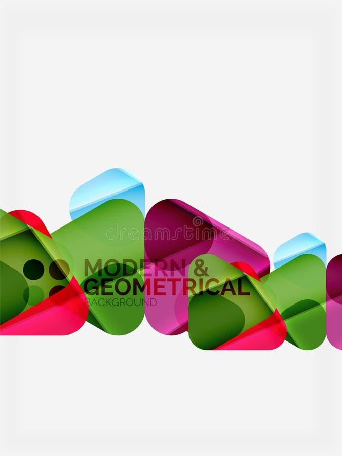 Los triángulos geométricos coloridos modernos con efecto brillante brillante con la muestra mandan un SMS libre illustration