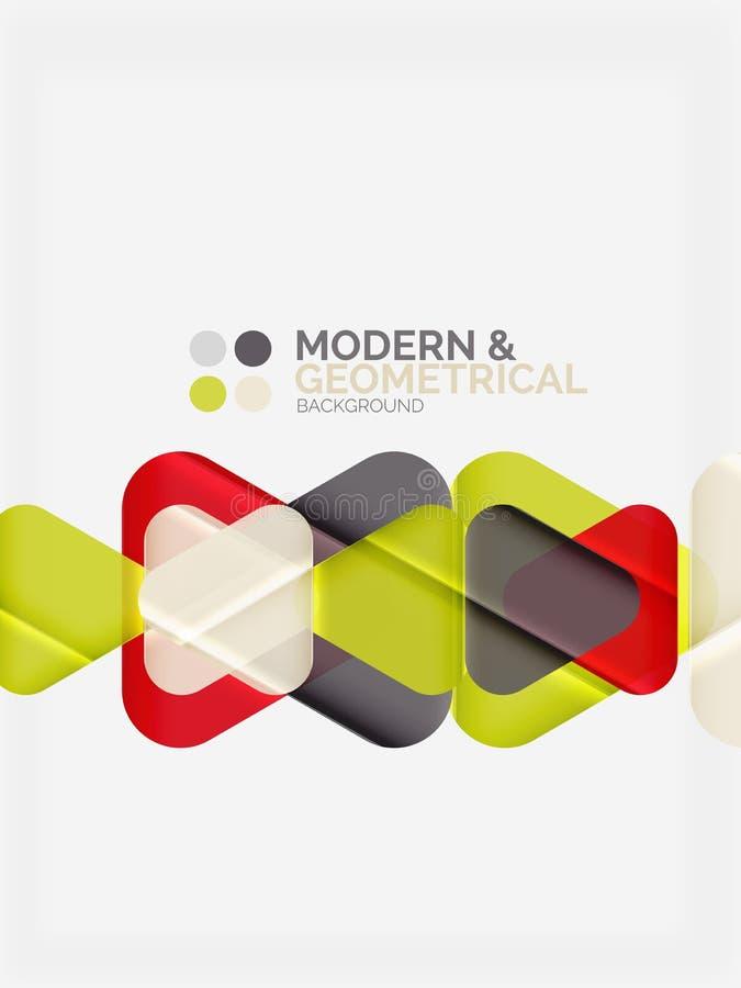 Los triángulos geométricos coloridos modernos con efecto brillante brillante con la muestra mandan un SMS ilustración del vector