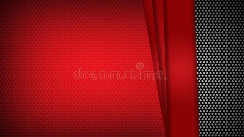 Los tri?ngulos geom?tricos rojos de la plantilla del extracto ponen en contraste el fondo negro Usted puede utilizar para el dise ilustración del vector
