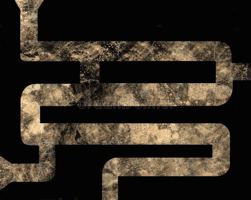 Los tubos de alcantarilla oxidados permeables, ejemplo abstracto libre illustration