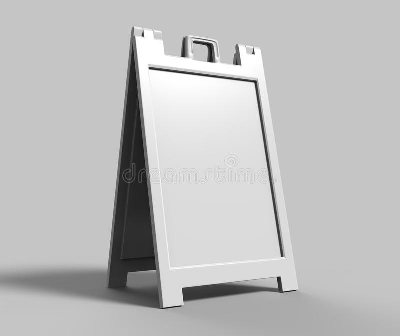 Los Uno-marcos ligeros y portátiles del plástico que hacen publicidad de soportes de la bandera son gran manera de hacer publicid ilustración del vector