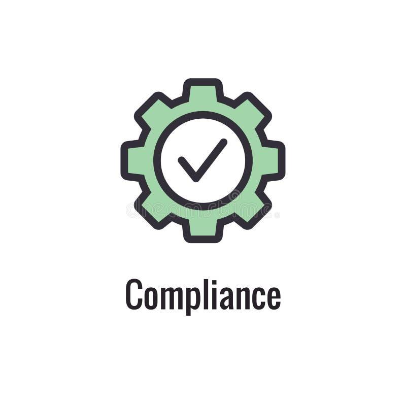 Los valores de la base resumen/línea icono que transporta un propósito específico libre illustration
