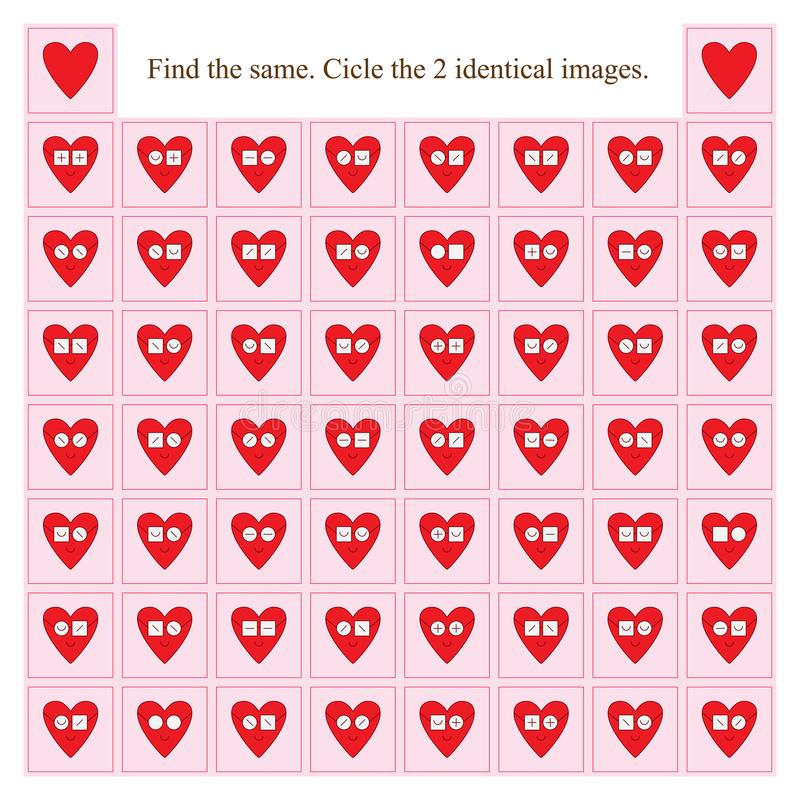 Los vidrios del desgaste del amor encuentran lo mismo stock de ilustración