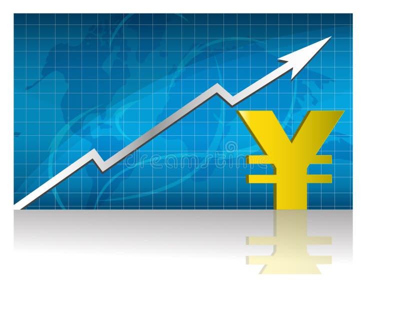 Los Yenes intercambian/vector stock de ilustración