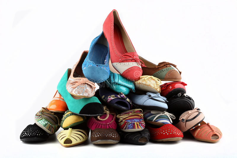 Los zapatos de las mujeres foto de archivo libre de regalías