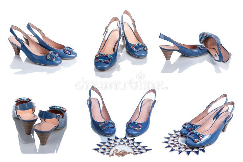 Los zapatos de las mujeres de diversos lados foto de archivo