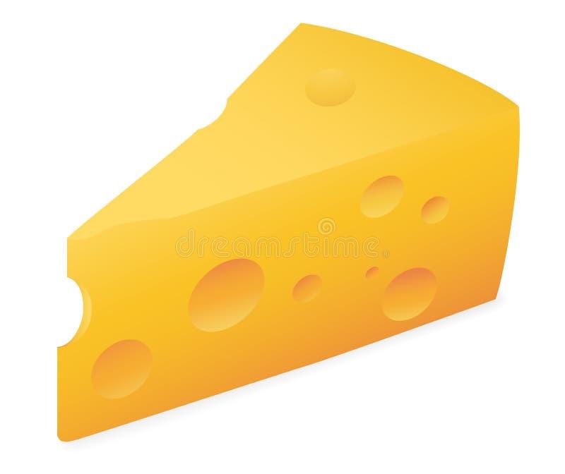 Losa del queso stock de ilustración