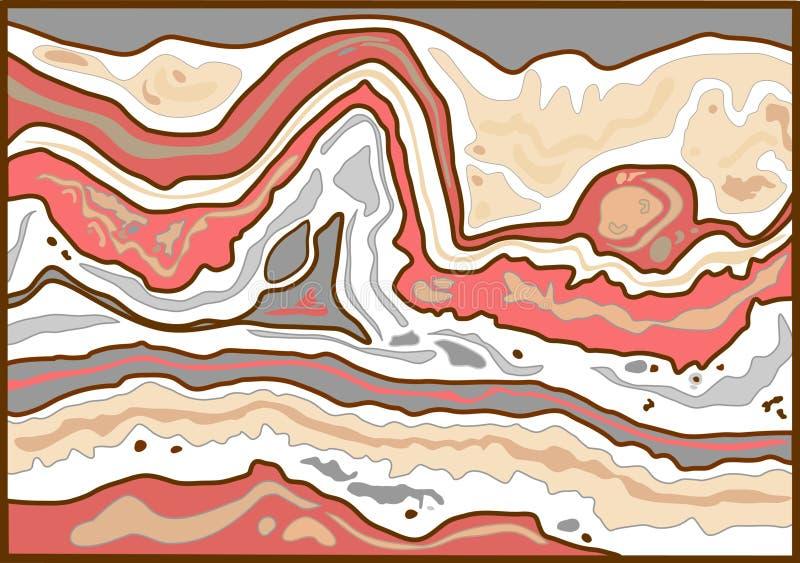 Losa loca abstracta del cordón ilustración del vector