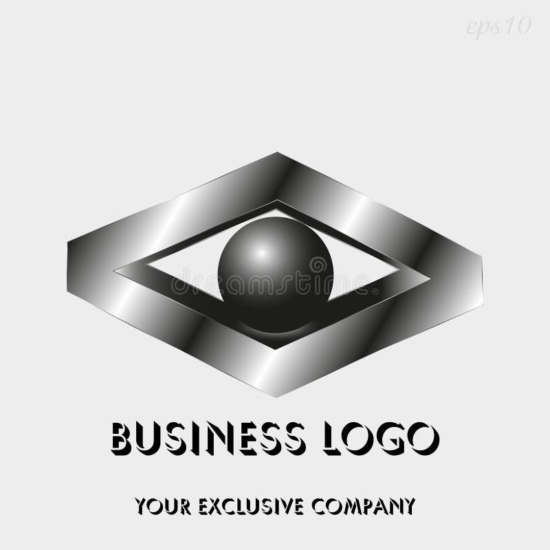 Losange et sphère de logo illustration libre de droits