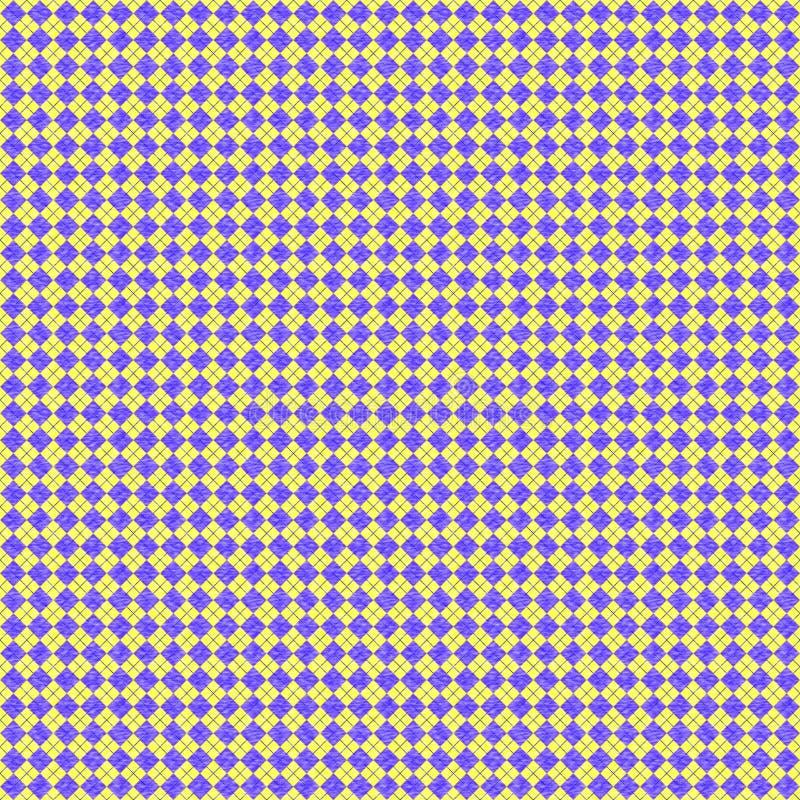 Losanges violets sur le fond jaune, modèle répété illustration de vecteur