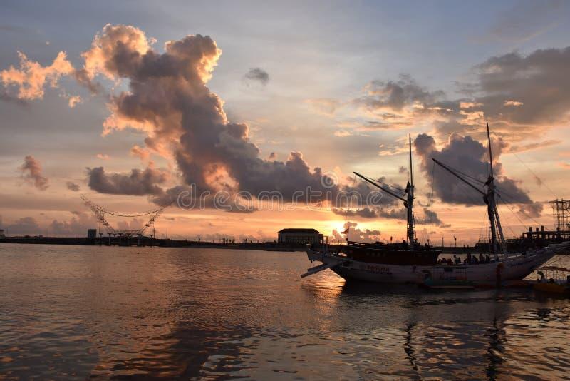 Losari海滩 免版税图库摄影