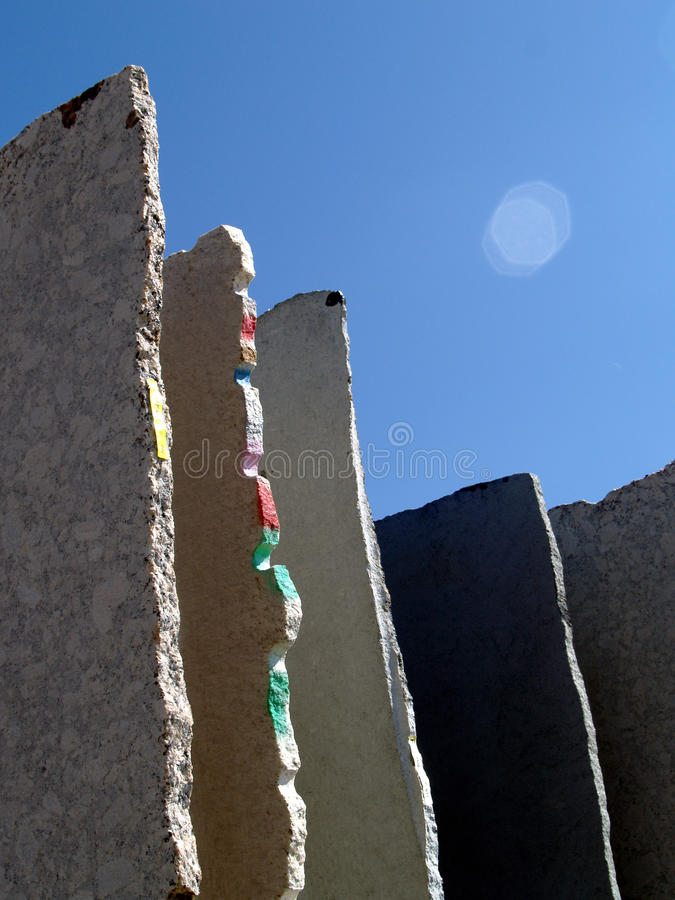 Losas de mármol fotografía de archivo libre de regalías