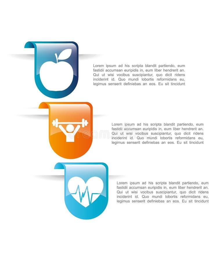 Lose weight design. Illustration eps10 graphic royalty free illustration