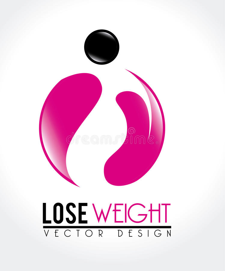 Lose weight royalty free illustration