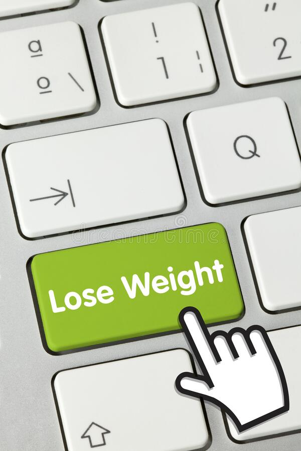 Free Lose Weight - Inscription On Green Keyboard Key Stock Image - 189572981