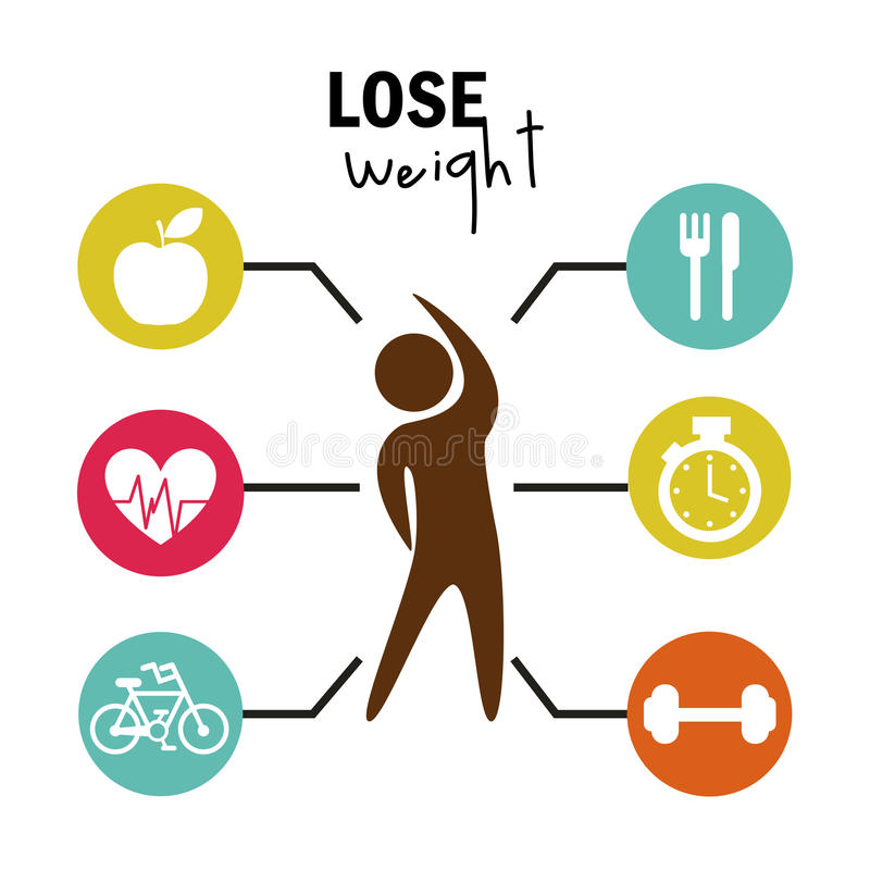 Lose weight vector illustration
