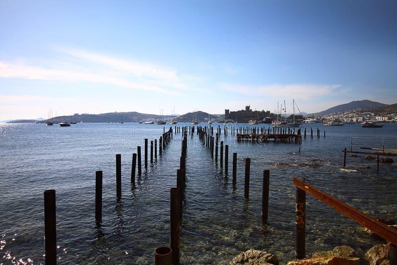 Losgemaakt Pier In Bodrum royalty-vrije stock afbeelding