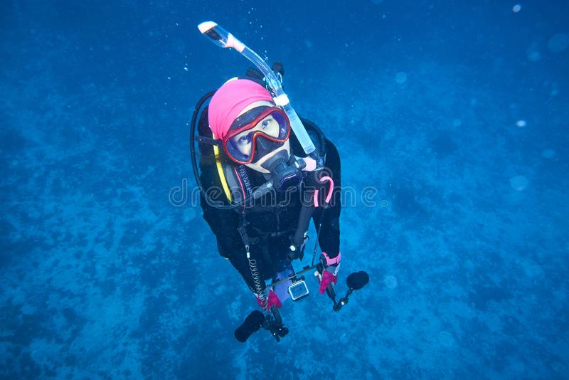 Losin south of Thailand 2018. Beautiful diving underwater with Fishes and Corals at Losin south of Thailand 2018 stock photo