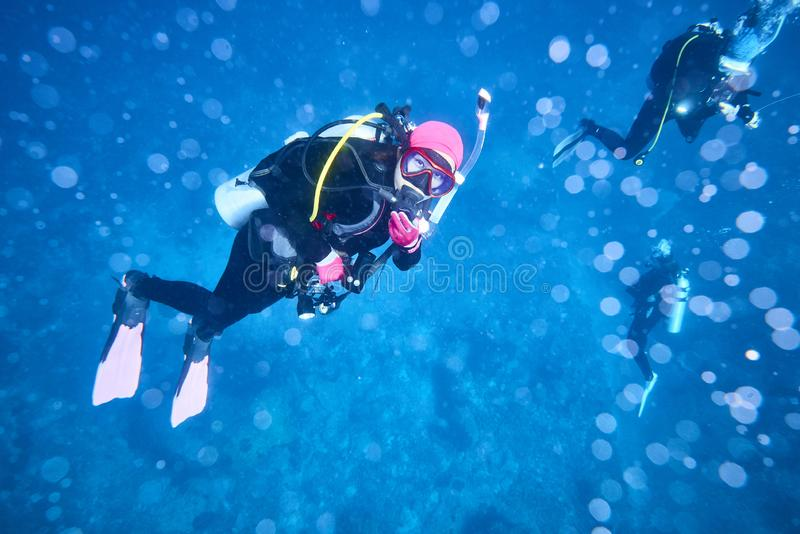 Losin south of Thailand 2018. Beautiful diving underwater with Fishes and Corals at Losin south of Thailand 2018 royalty free stock image