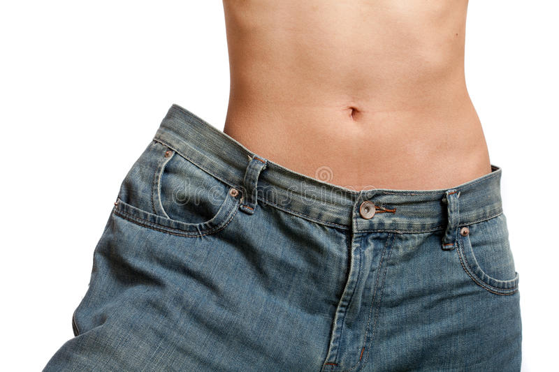 Before And After Losing Weight Royalty Free Stock Photos