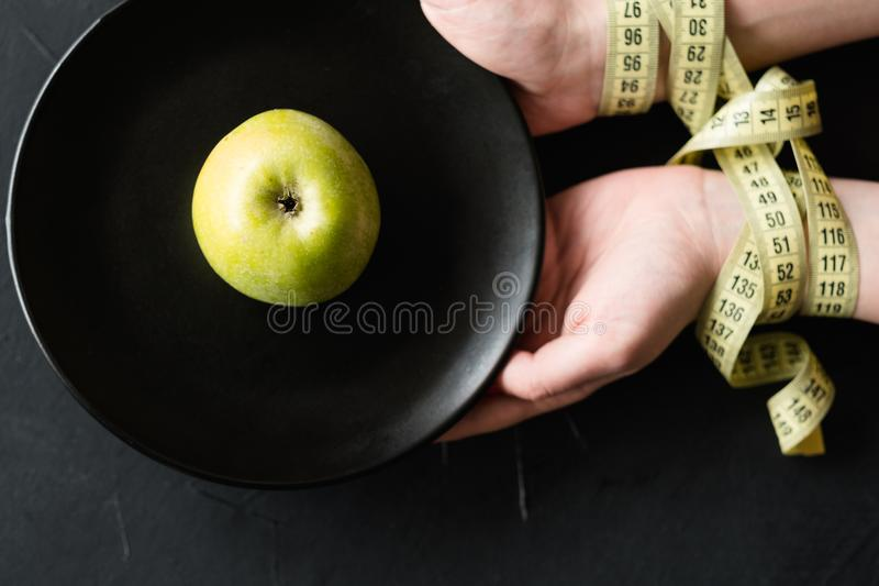 Losing weight fitness will power restriction apple stock images