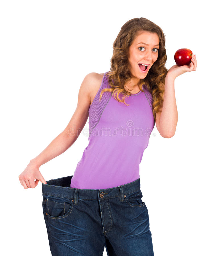 Losing Weight with the Help of Fruits stock images
