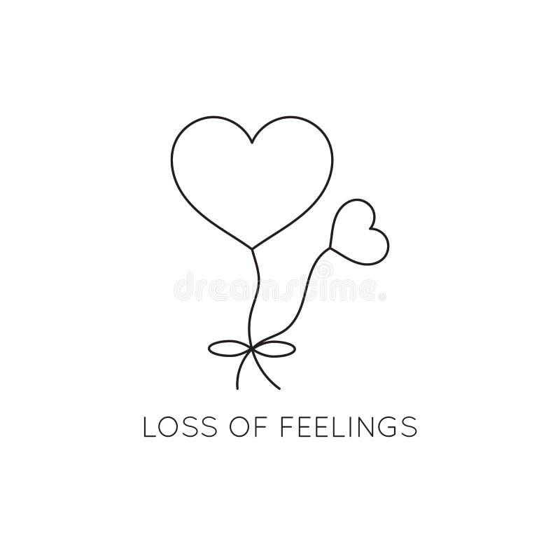 Loss of feelings line icon royalty free illustration