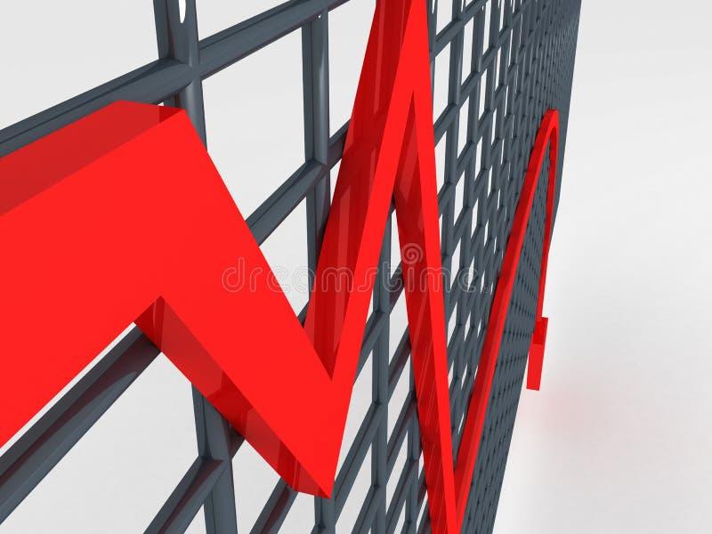 Loss graph stock photo