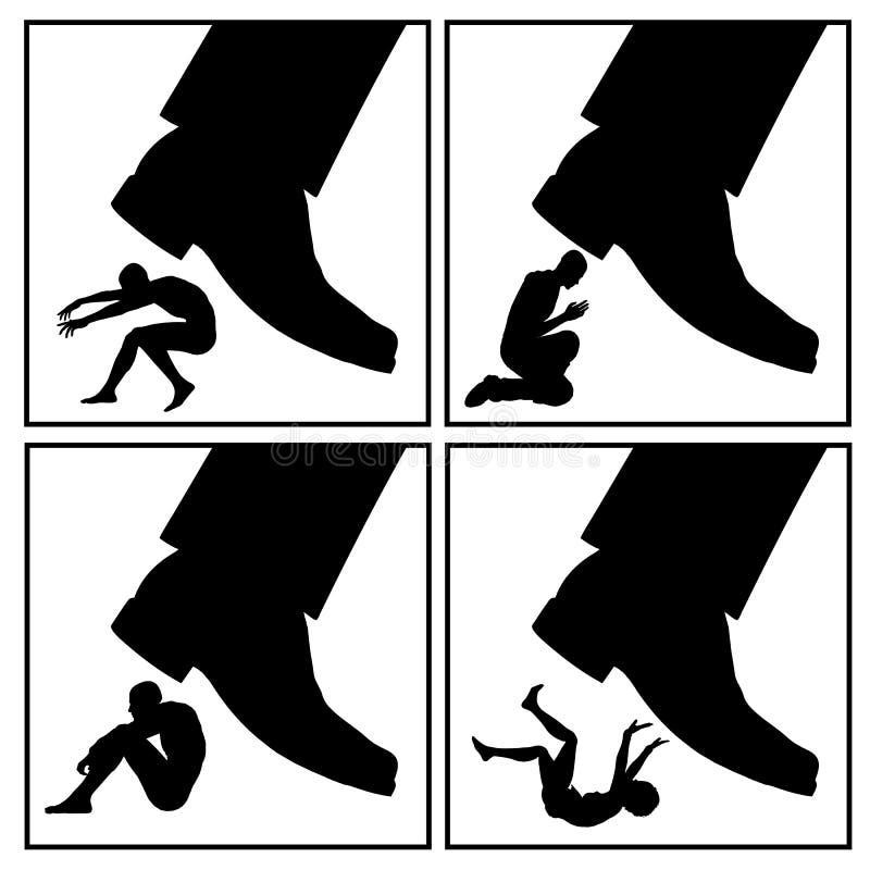 Lossa för konfliktstrategi stock illustrationer